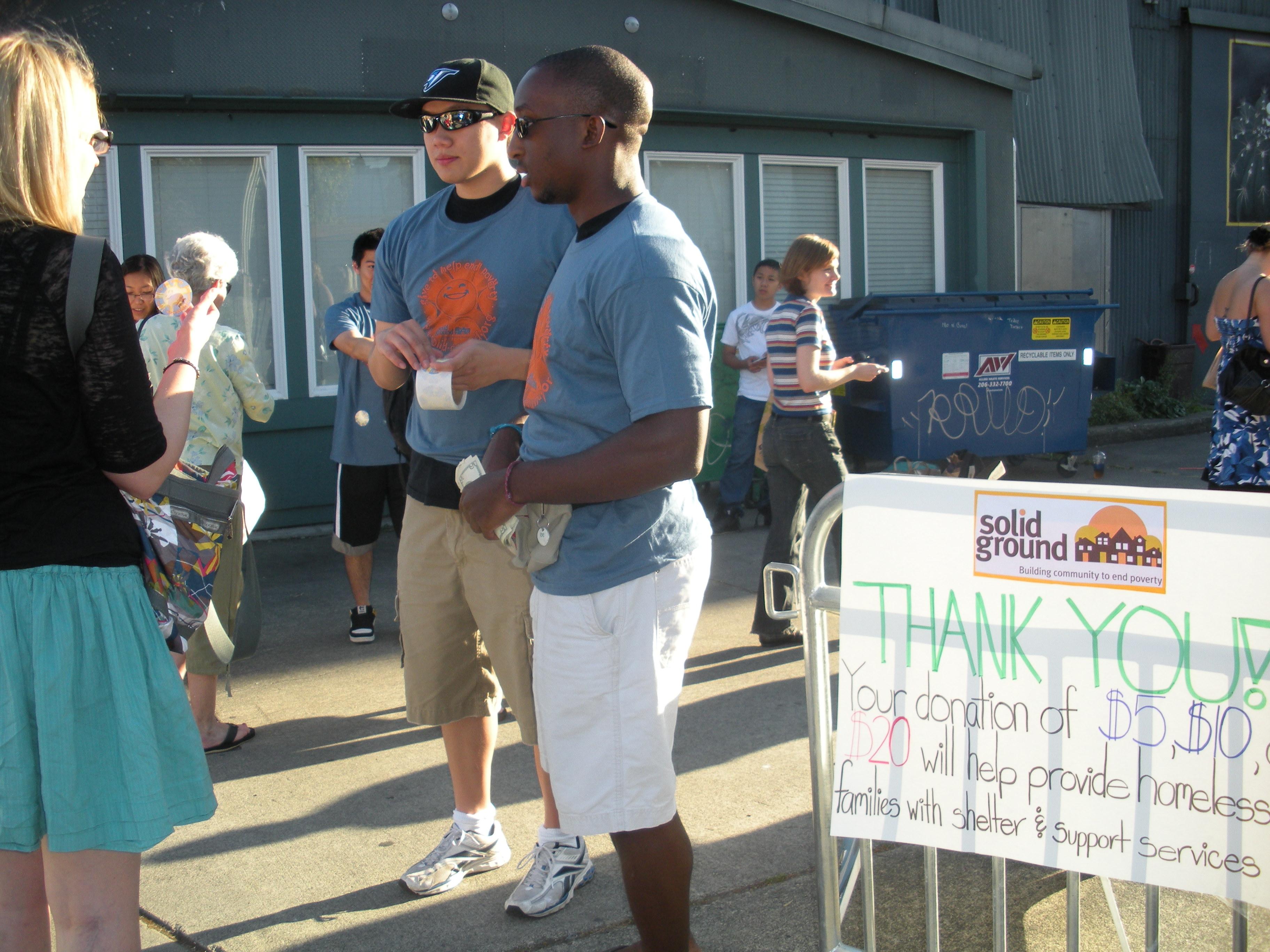 Solid Ground volunteers: greet folks at Ghostbusters