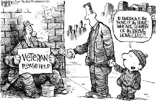 cartoon about homeless vets