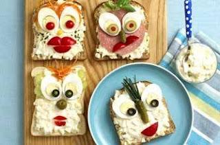 Mr. Egg Face Sandwiches