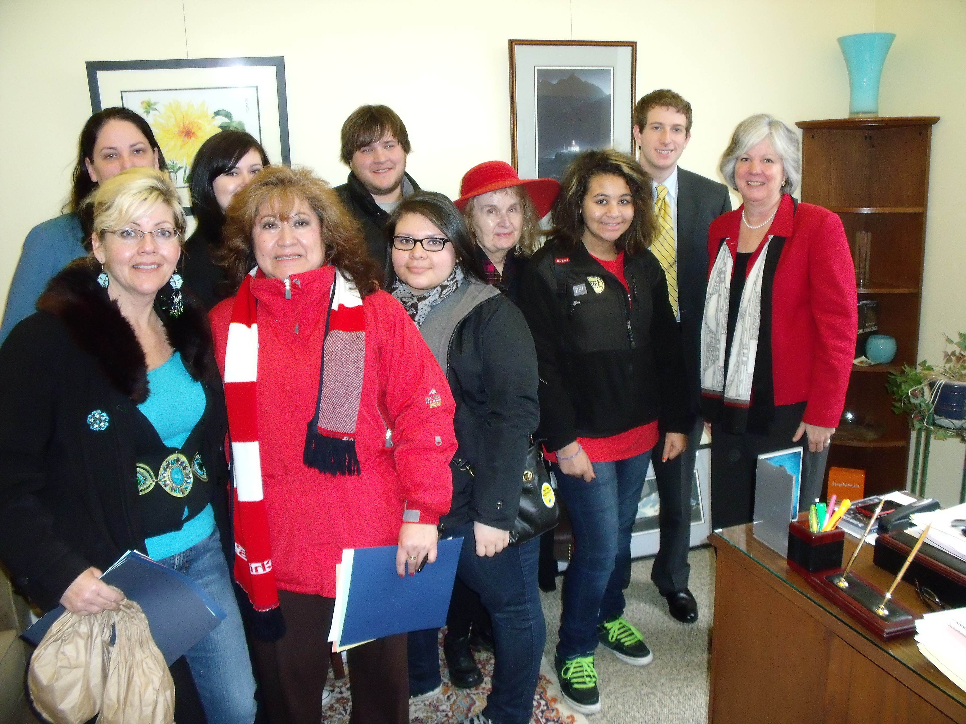 Poverty Action members lobby in Olympia for foreclosure fairness
