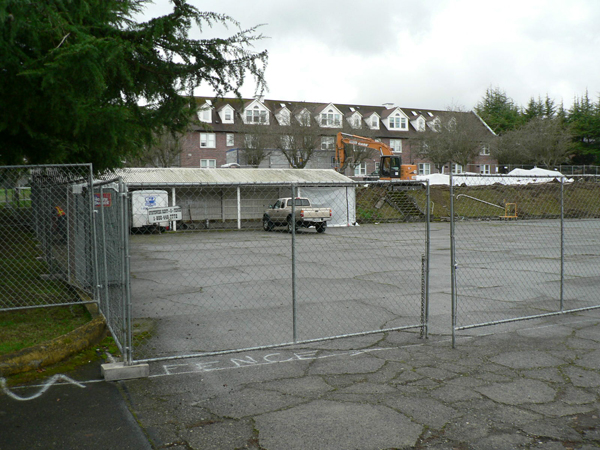 View from the north at the site where six family homes and 33 for singles will be constructed