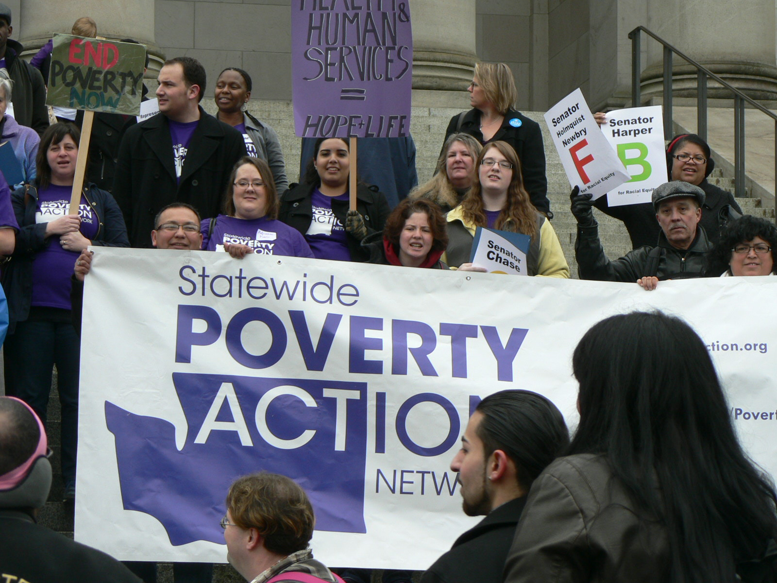 Advocates in Olympia on Martin Luther King, Jr. Day, 2013