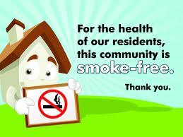 Smoke-free housing sign