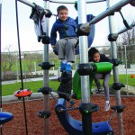 kids playing at Brettler Family Place playground