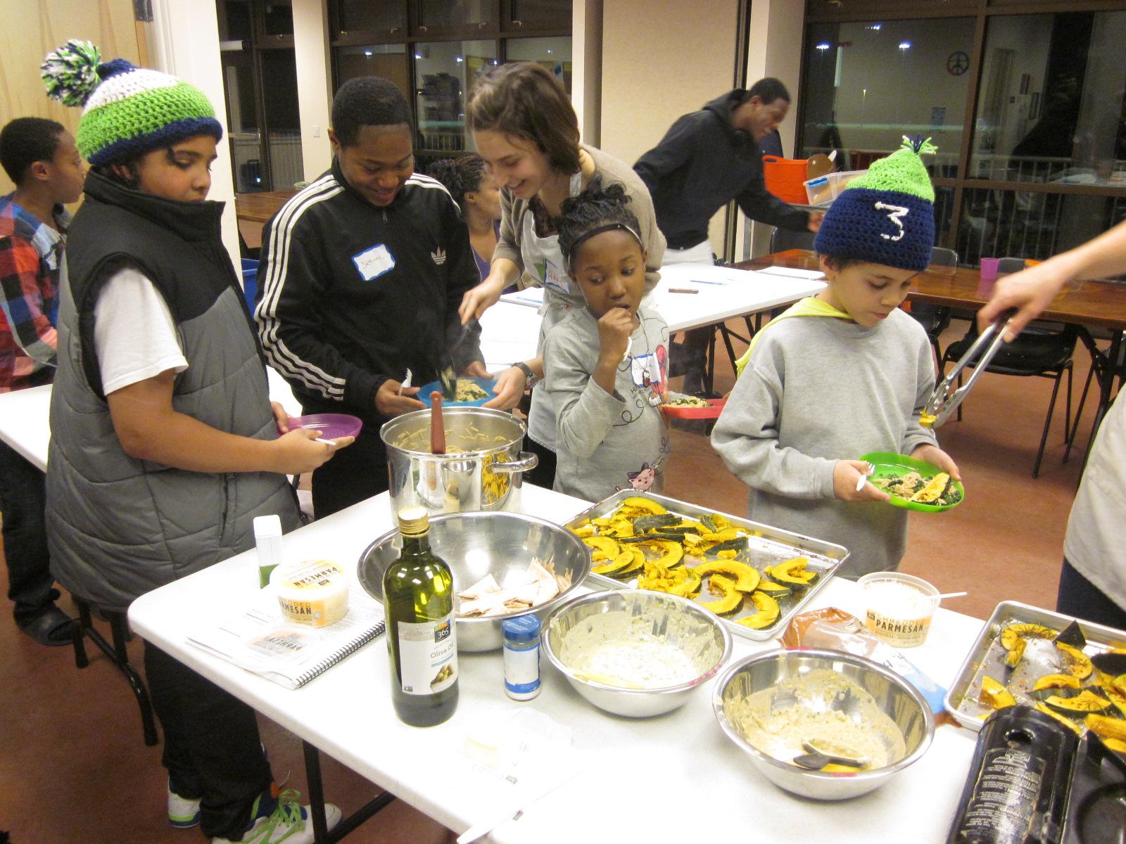 Cooking Matter class at Brettler Family Place