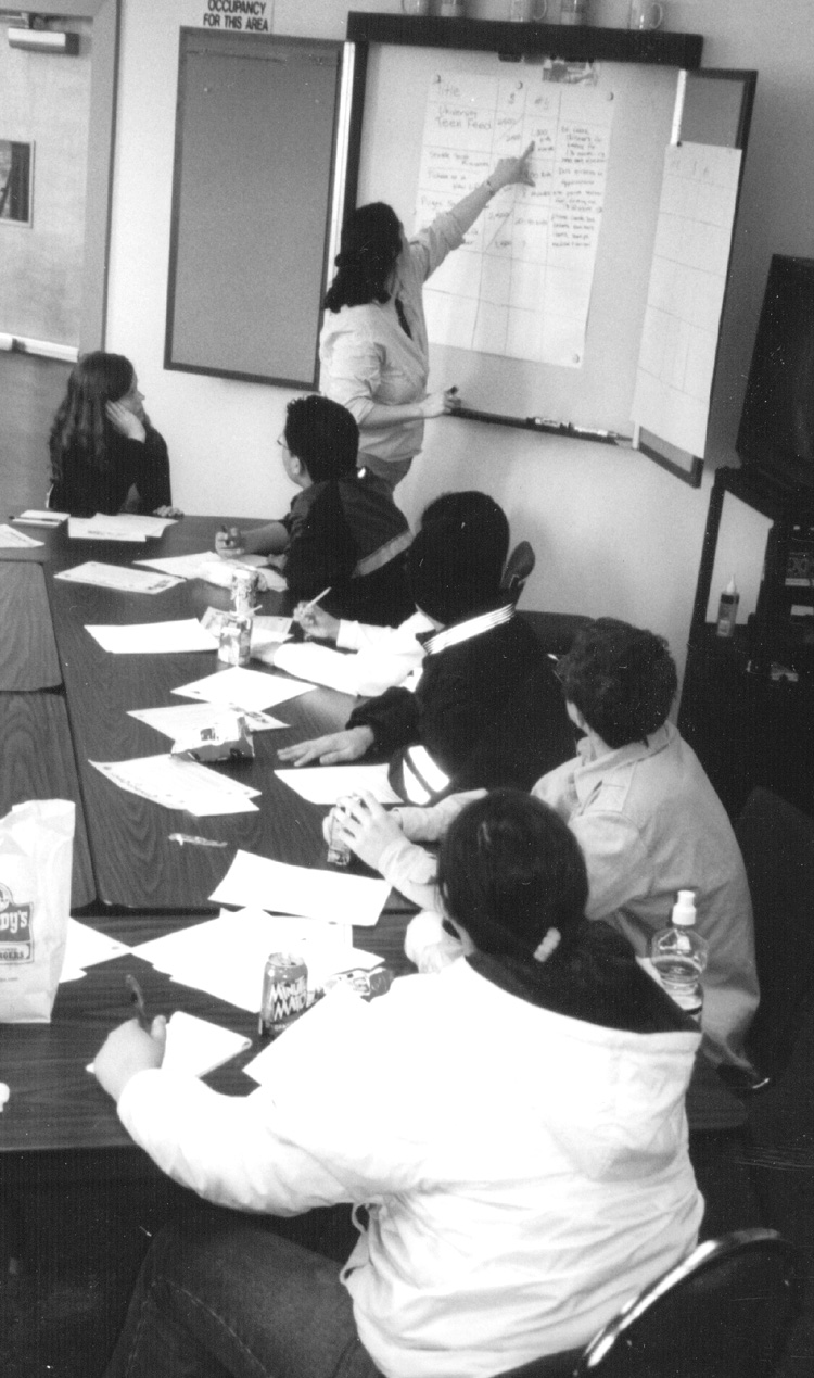 Youth Board meeting in 2002
