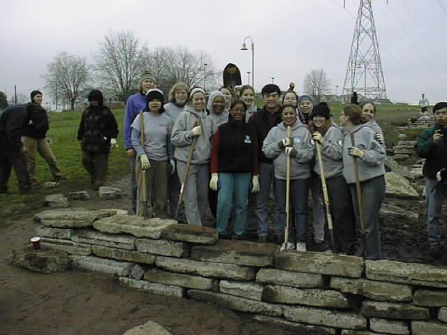 National Service team members, community builders.