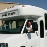 Maintenance Manager Jon Hauge gets a Circulator bus ready for its debut ride.