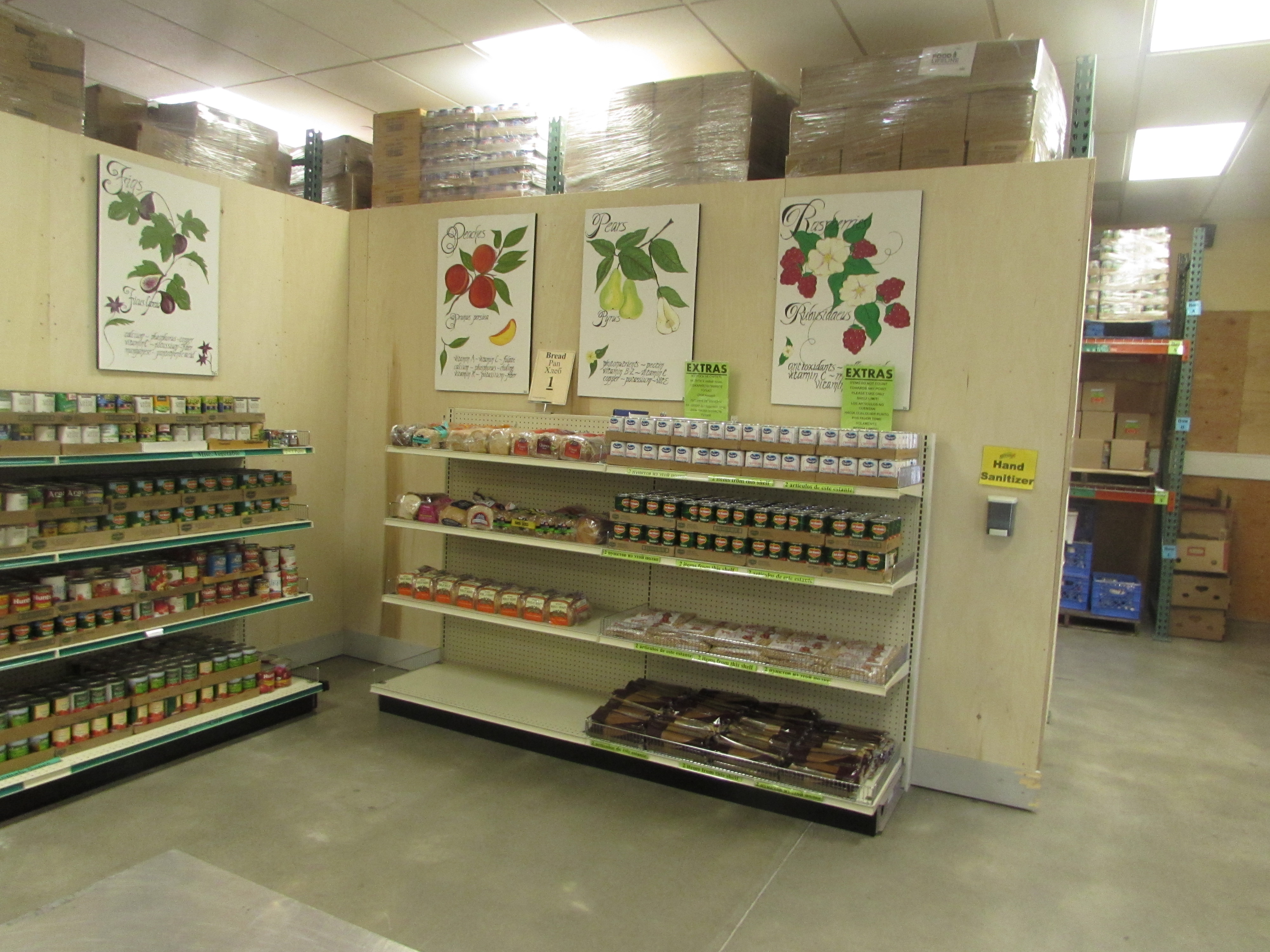 The Maple Valley grocery style food bank