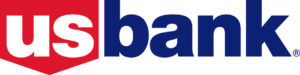 US Bank logo in red, white, and blue