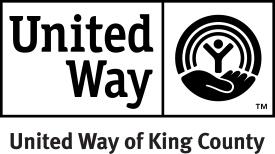 United Way of King County black & white logo