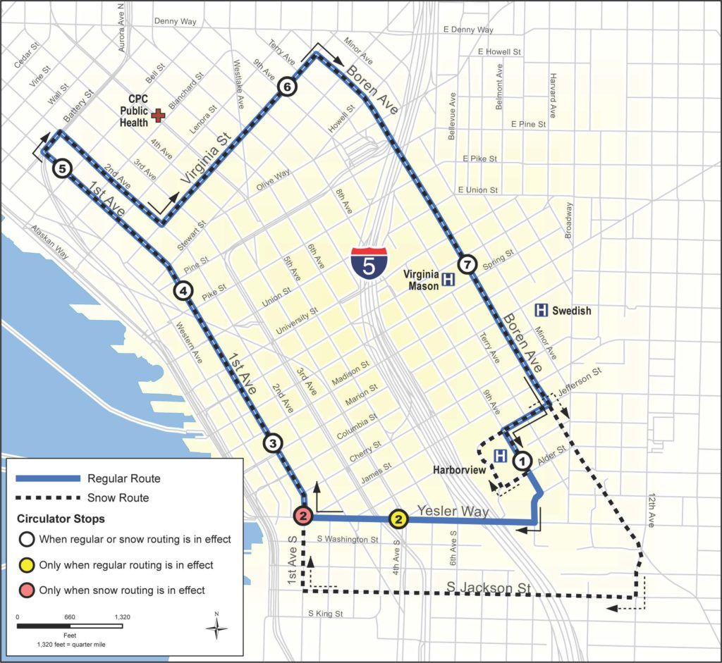 Downtown Circulator Bus Map