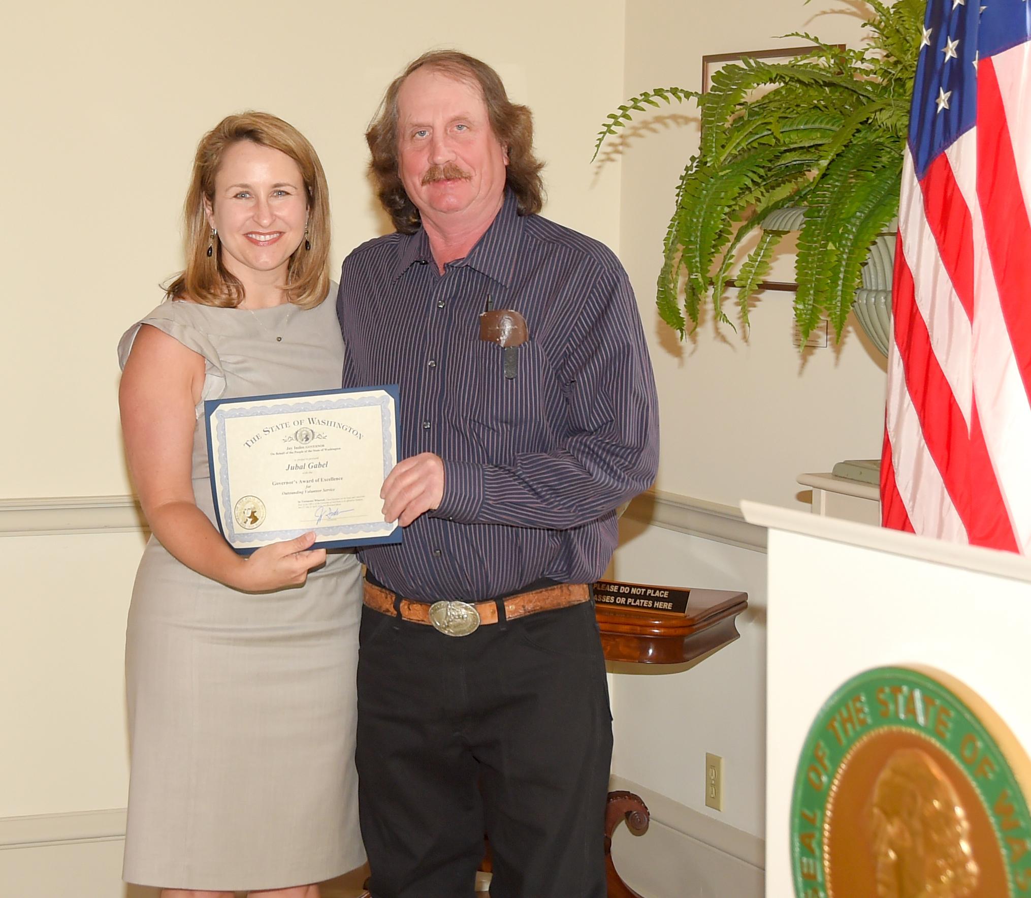 Jubal Gabel Governor's Award