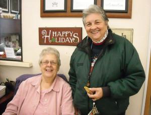 RSVP Volunteers Lillian Popp & Pat Cinderich (Photo by Jobyna Nickum)