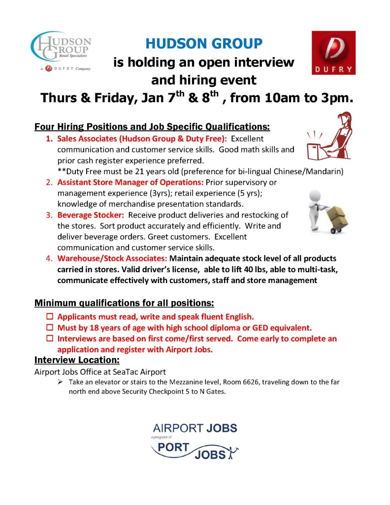 Hudson Group Interview Flyer