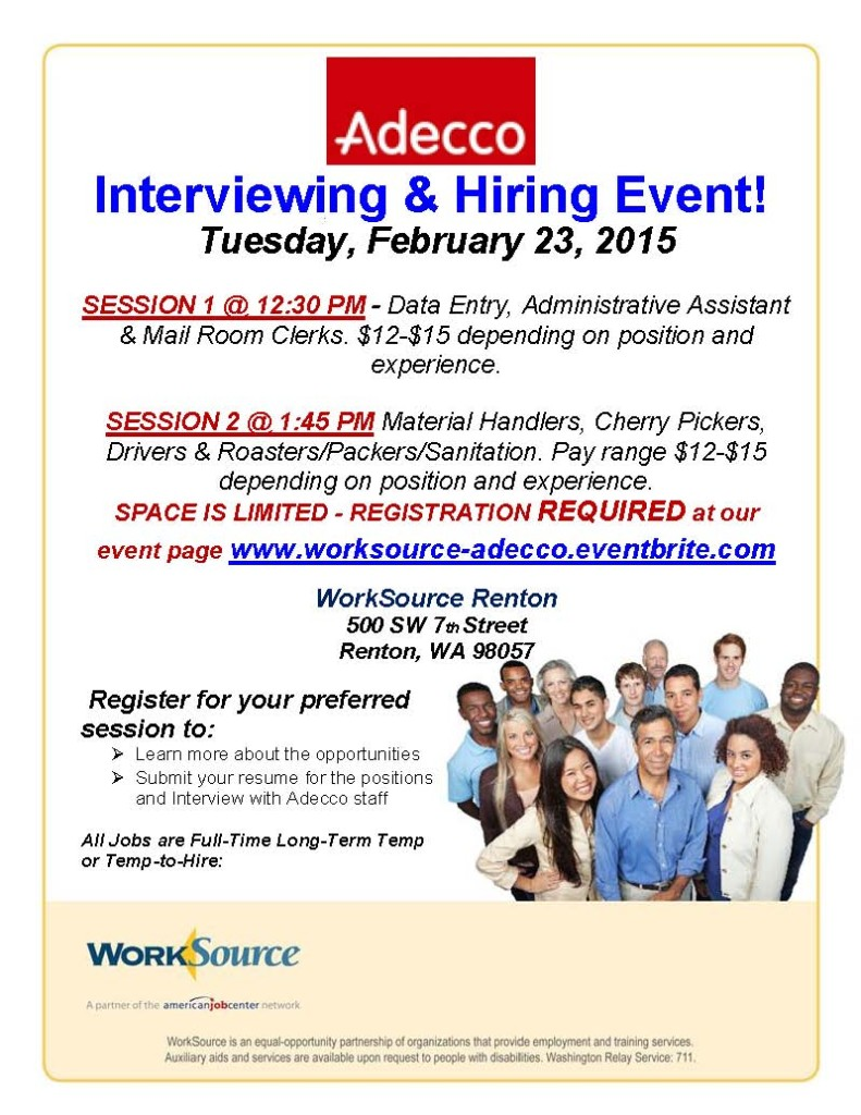 Adecco Hiring Event