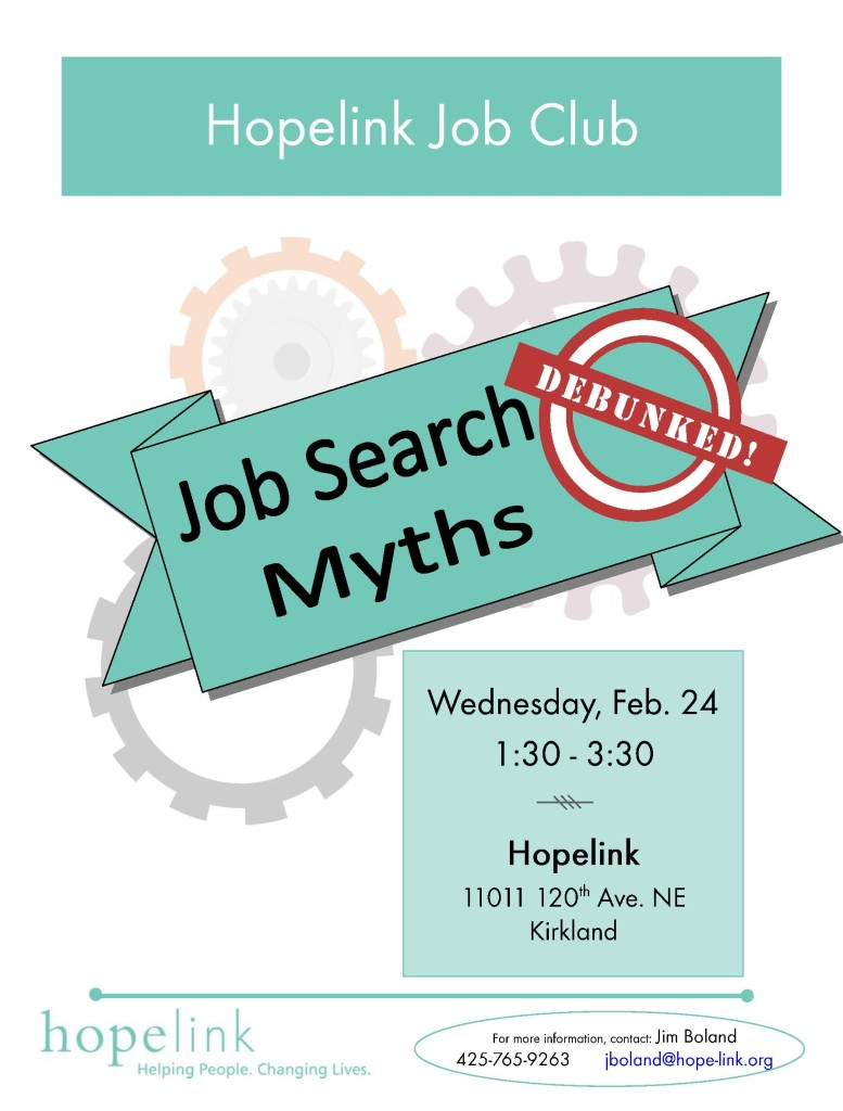 Hopelink Job Club Flyer