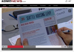 Seattle Housing Levy flyer