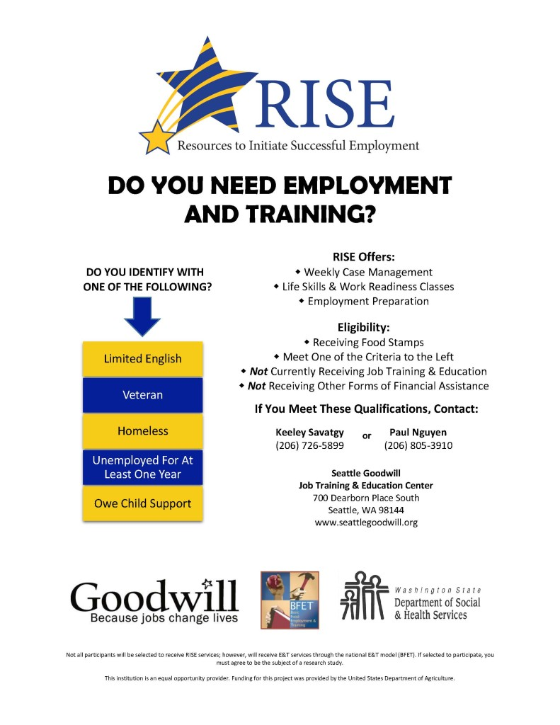 Goodwill RISE Flyer