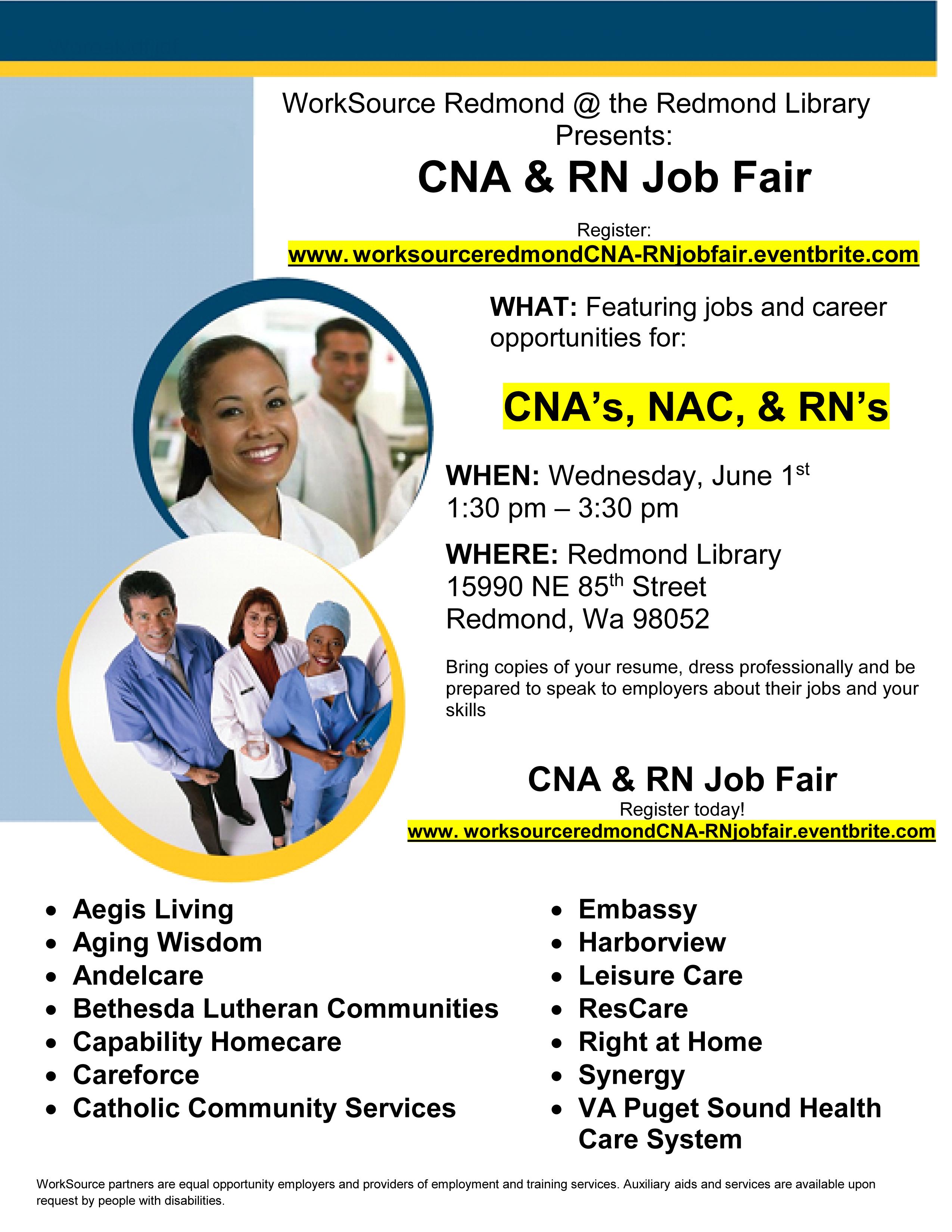 6-1 CNA & RN Job Fair