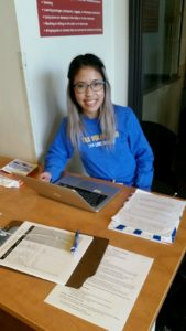 One of UWKC's Volunteer In-person Tax Assistants at Solid Ground