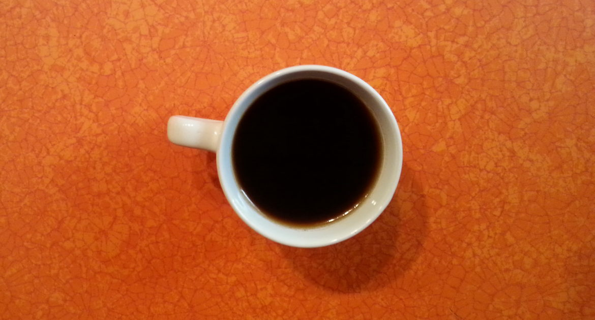 Espresso on orange counter, photo by LIz Reed Hawk