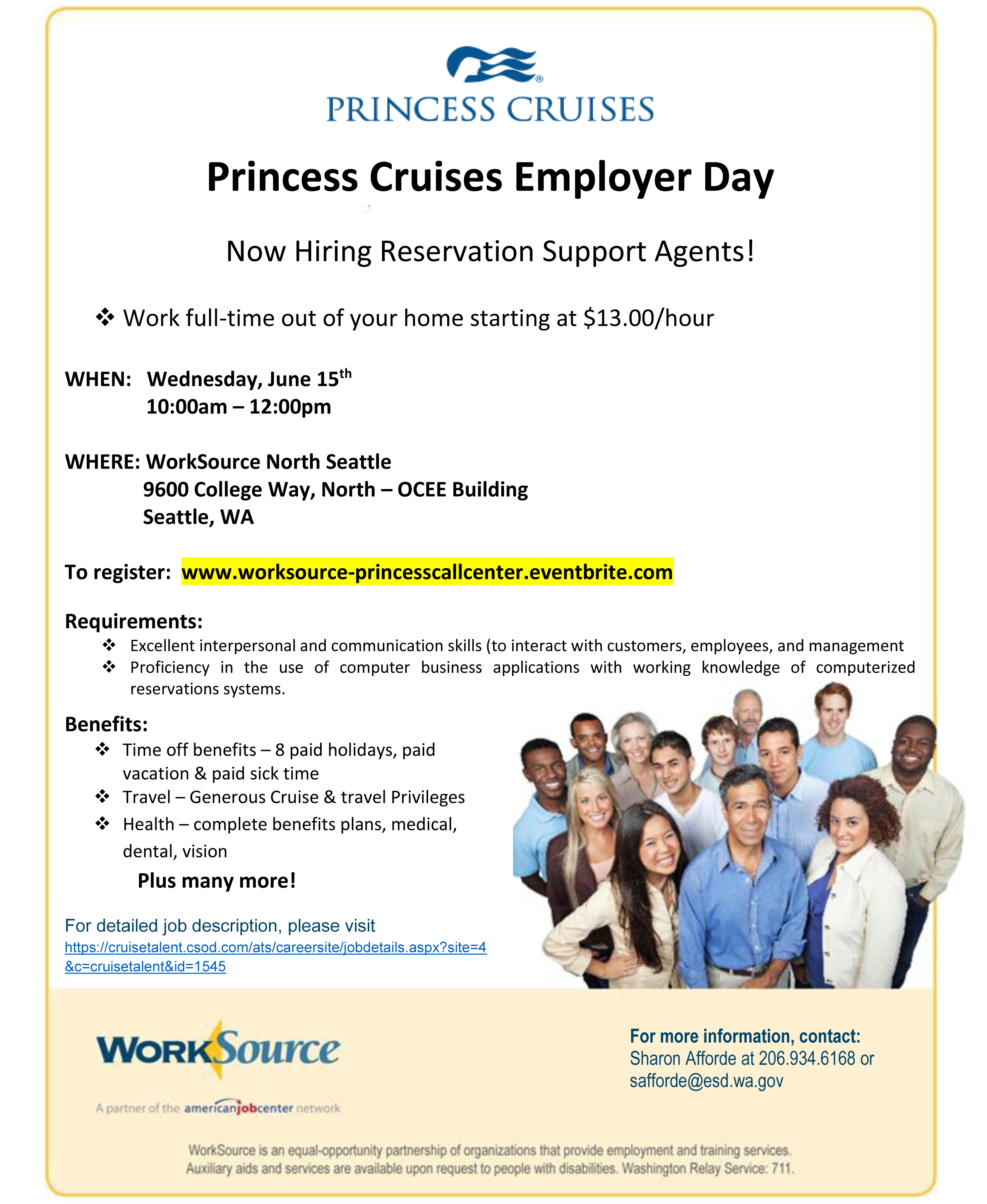 6-15 Princess Cruise - call center FLYER