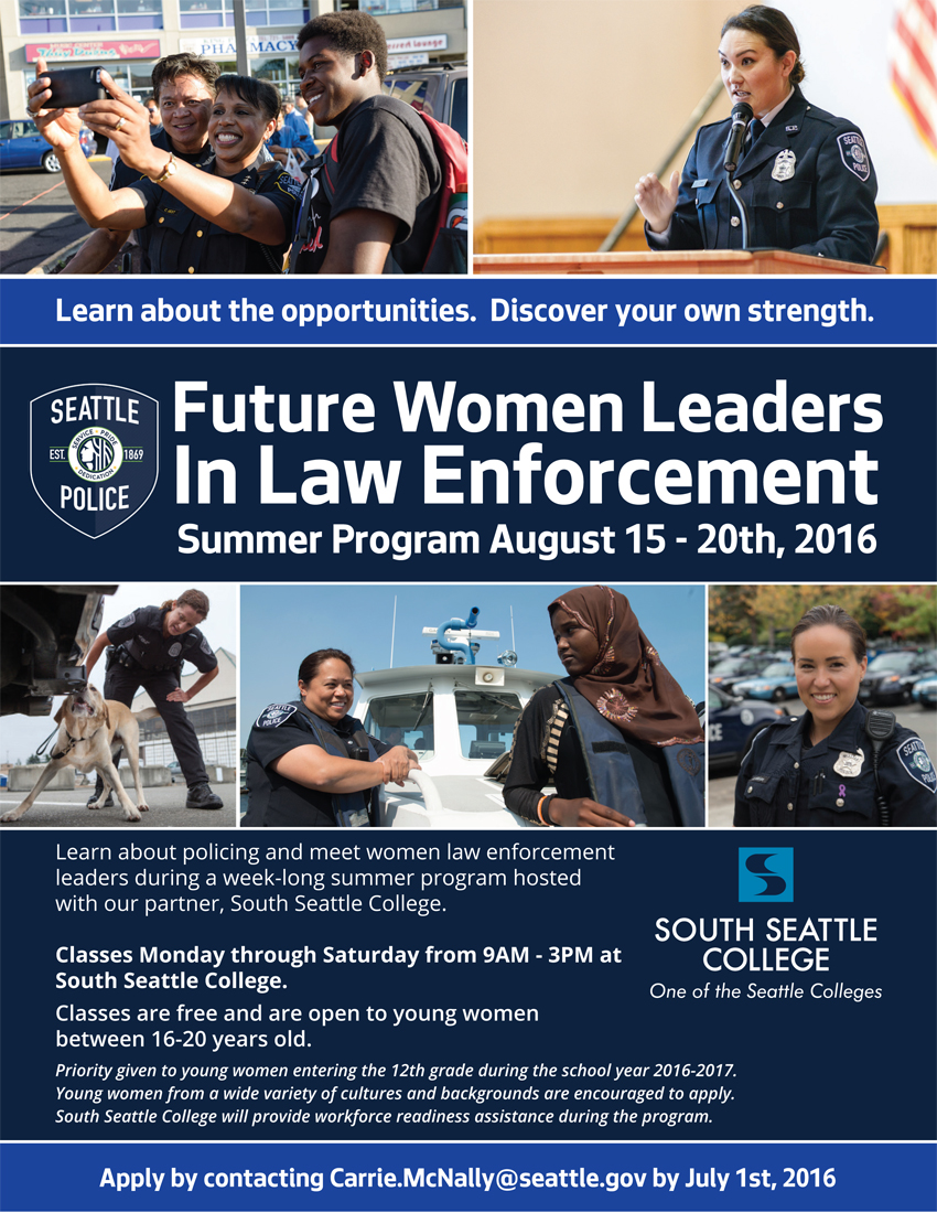 Future Women Leaders in Law Enforcement August 15 through 20, 2016