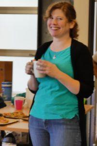 Erika Whittier at volunteer appreciation event