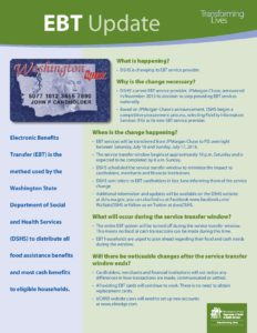 EBT Fact Sheet