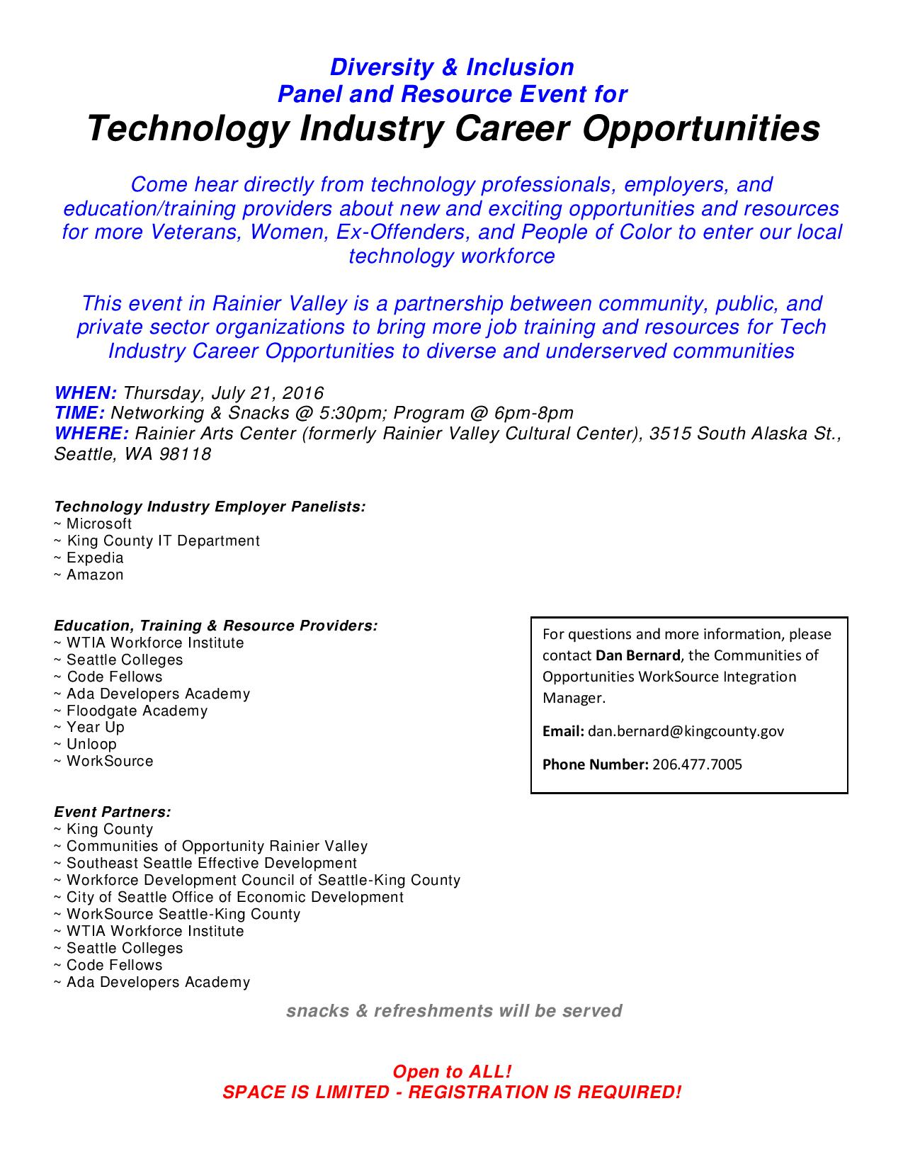 Tech Opp Flyer