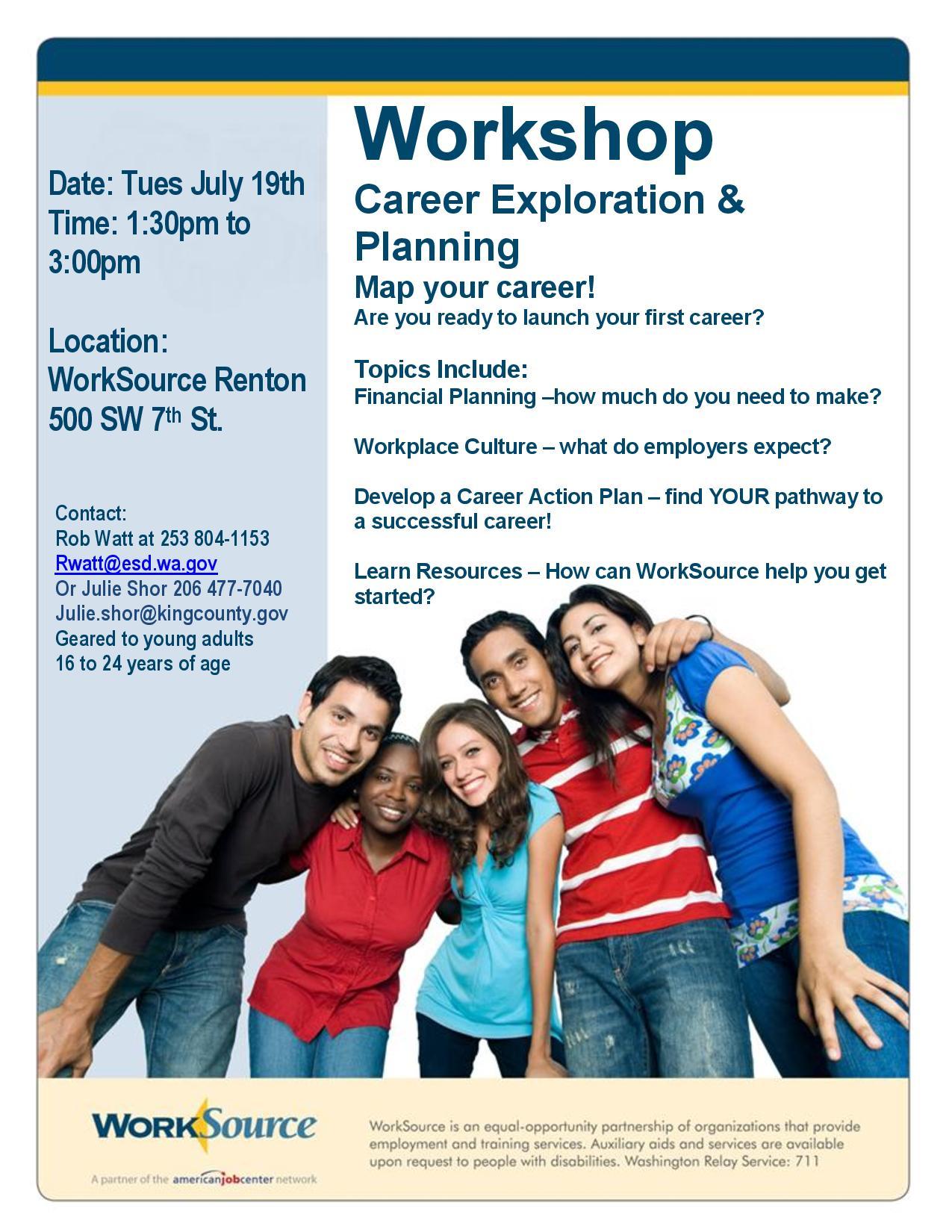 Career Exploration Workshop Flyer