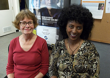 Tutor Linda Becker & Student Alem (Photos courtesy of Literacy Source)