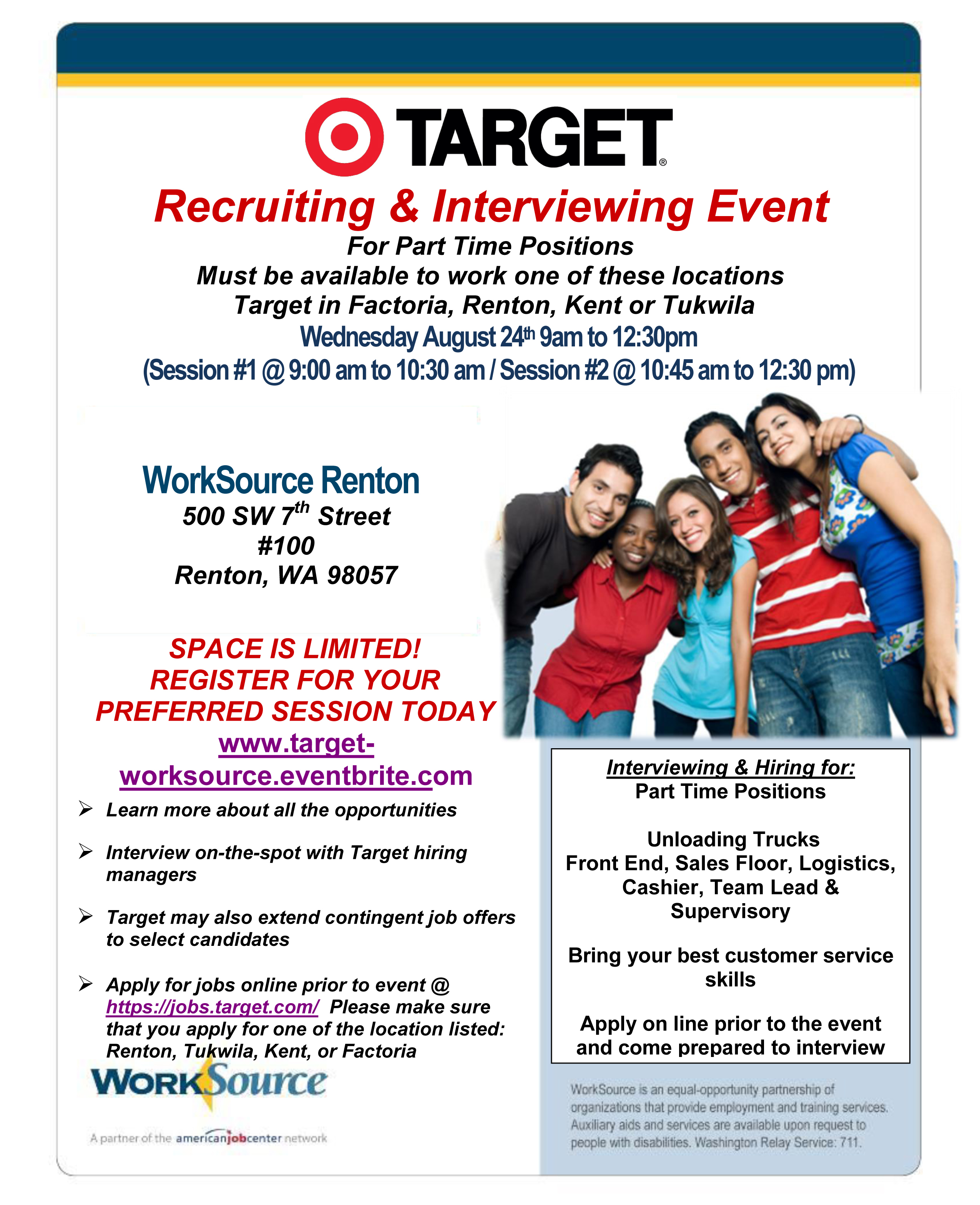 Target Recruiting Interviewing Event