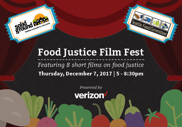 Food Justice Film Fest 2017 postcard