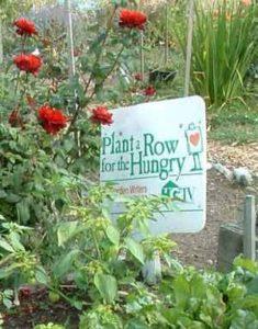 Giving Garden sign