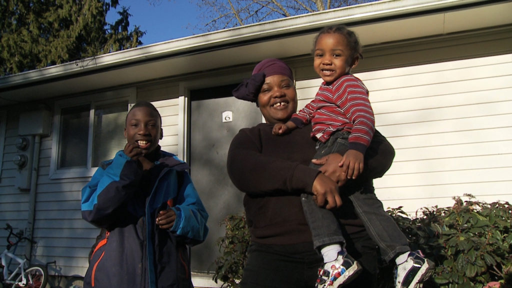 A mom and two boys worked with Solid Ground's JourneyHome program to find housing.