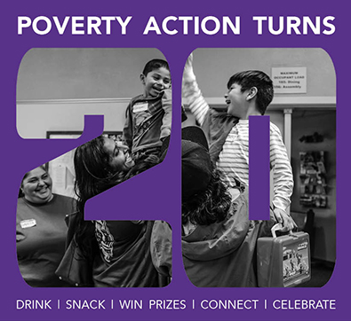 Statewide Poverty Action Network's 20th Anniversary graphic