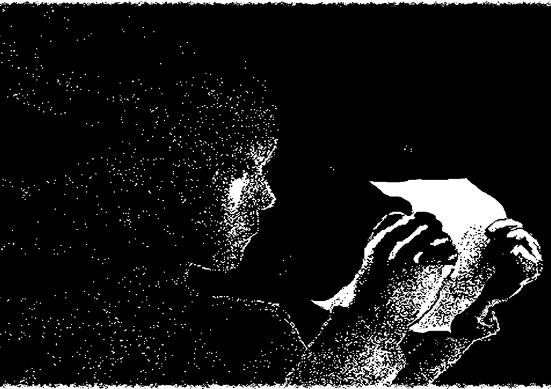 Graphic of girl reading a letter