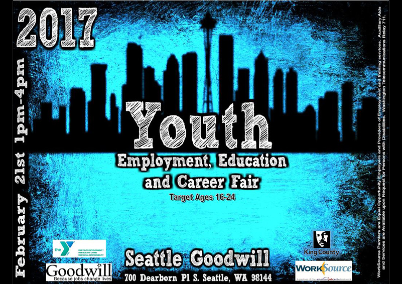 Seattle Goodwill Youth Job Fair flyer
