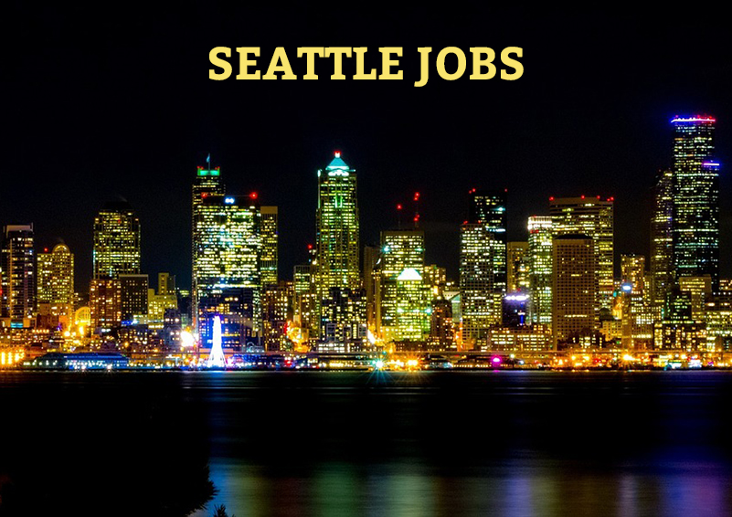 Seattle Jobs cityscape at night