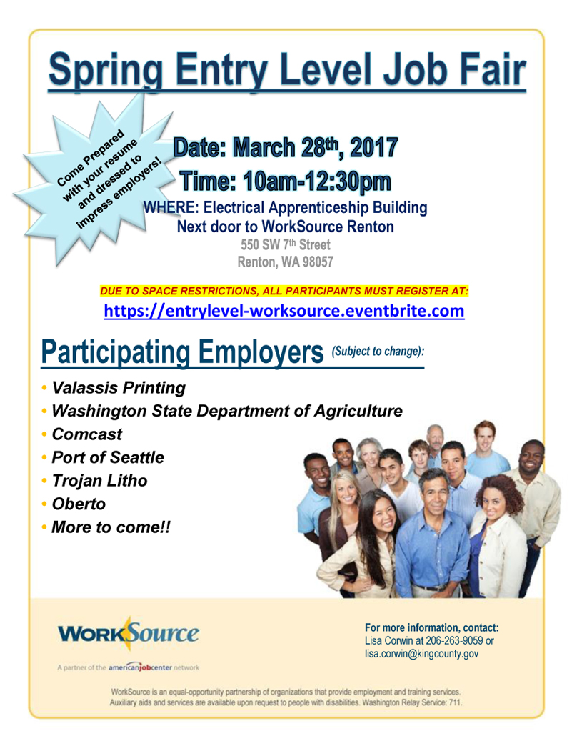 Spring Entry Level Hiring Event