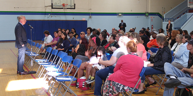 Seattle Mayor Ed Murray meets with residents about the police shooting of Charleena Lyles