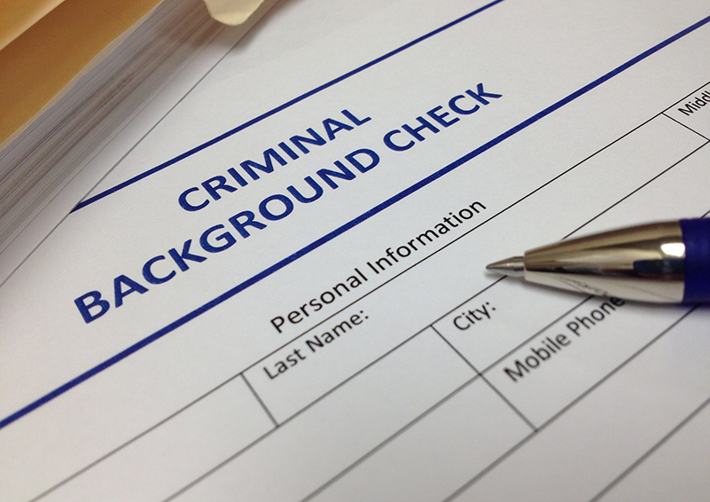 criminal background check form