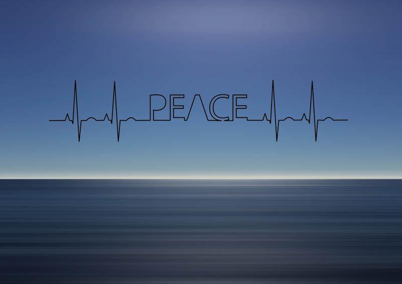 Peace over ocean