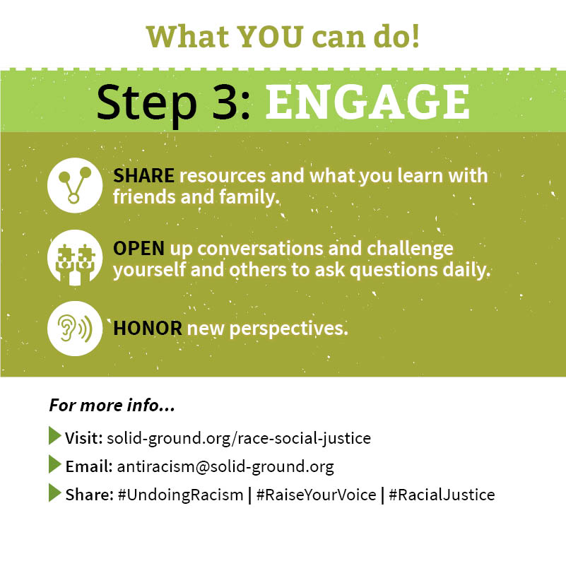 Undoing Racism brochure - Step 3: Engage