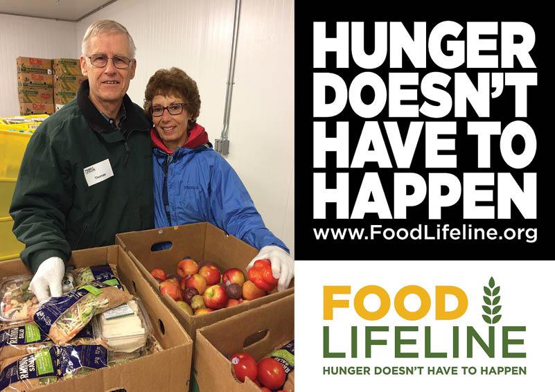 Food Lifeline volunteers, Tom & Christine
