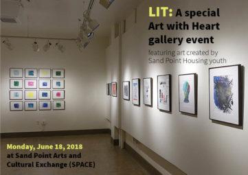 LIT/Art with Heart slideshow cover slide