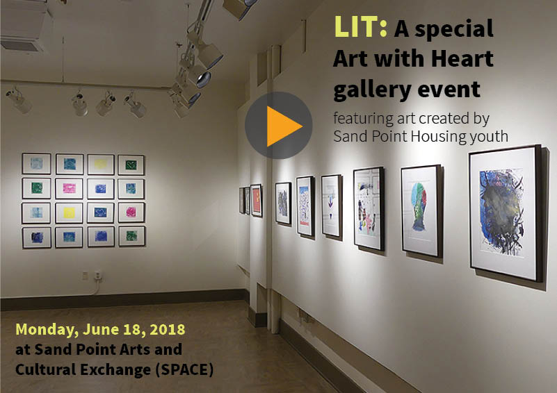 Video cover slide: LIT Art with Heart Exhibition