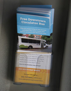 Circulator brochures (photo by Lara Breitkreutz)